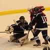Salem, Ma. 12-53-17. Travis Ryan of Lynn, 19, getting it by  Lucas DeMild of Peabody for an assist.
