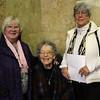 Lynn, Ma. 12-3-17. Helen McLaren, Mary Ramsay, and Janette Shearer before the start of the Celtic Thunder concert at the Lynn Auditorium  on Sunday.