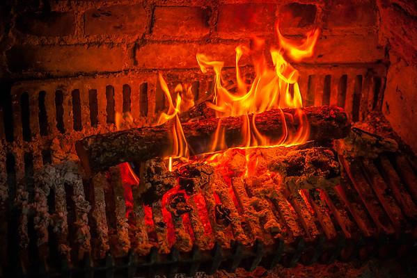Burning Logs - December