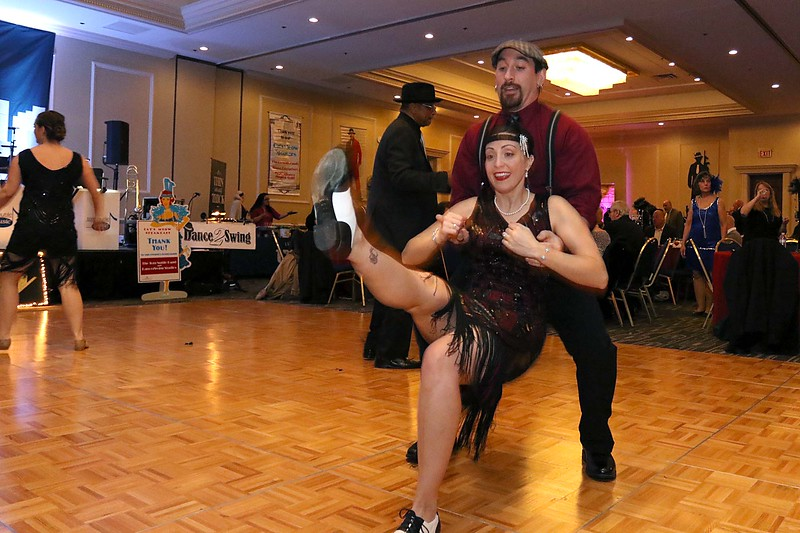 The HealthAlliance-Clinton Hospital Cat's Meow Speakeasy Tasting Gala was held on March 1, 2018 at the DoubleTree by Hilton in Leominster. Showing off their dance moves at the Speakeasy was travis Condon and his wife Ashley Robbins of Leominster. SENTINEL & ENTERPRISE/JOHN LOVE