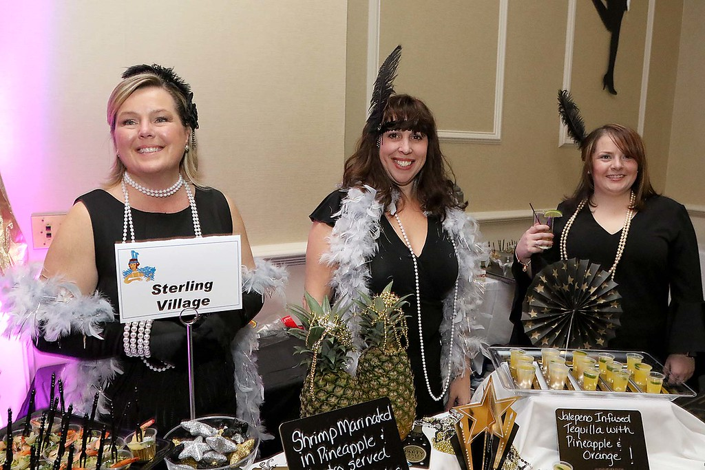 . The HealthAlliance-Clinton Hospital Cat\'s Meow Speakeasy Tasting Gala was held on March 1, 2018 at the DoubleTree by Hilton in Leominster. Sterling Village Rehab\'s table at the event was being manned by Sheryl DiLorenco, Kim Riel and Brianna Blash. SENTINEL & ENTERPRISE/JOHN LOVE