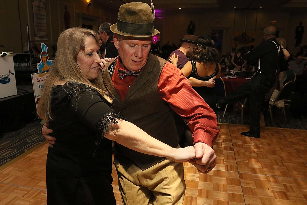 . The HealthAlliance-Clinton Hospital Cat\'s Meow Speakeasy Tasting Gala was held on March 1, 2018 at the DoubleTree by Hilton in Leominster. Showing off their dance moves at the speakeasy was Don Ciprotti and Karen Basque both of Leominster. SENTINEL & ENTERPRISE/JOHN LOVE