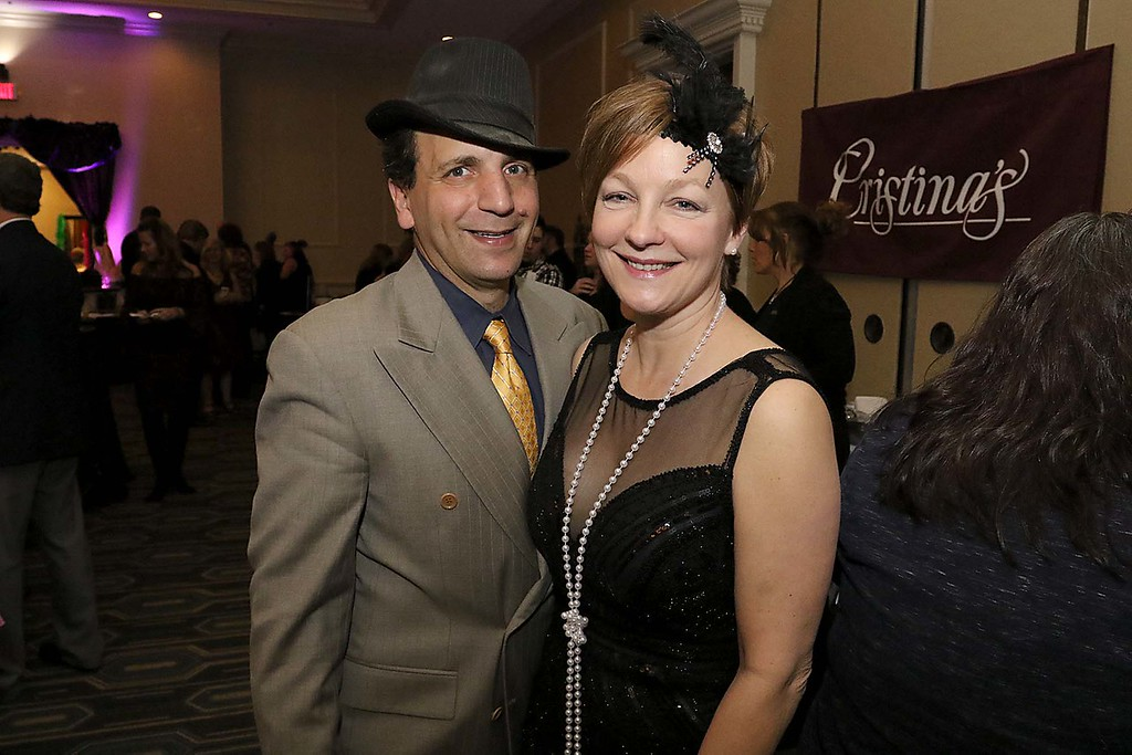 . The HealthAlliance-Clinton Hospital Cat\'s Meow Speakeasy Tasting Gala was held on March 1, 2018 at the DoubleTree by Hilton in Leominster. Enjoying the night was Patrisio Giallorento of Maynard with Yasmin Loft of Leominster.  SENTINEL & ENTERPRISE/JOHN LOVE