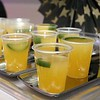 The HealthAlliance-Clinton Hospital Cat's Meow Speakeasy Tasting Gala was held on March 1, 2018 at the DoubleTree by Hilton in Leominster. Some jalepeno infused tequilla with pineapple and orange was being served at the Sterling Village Rehab's table at the event. SENTINEL & ENTERPRISE/JOHN LOVE