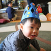 Caleb made this crown and wanted Micah to wear it for his birthday