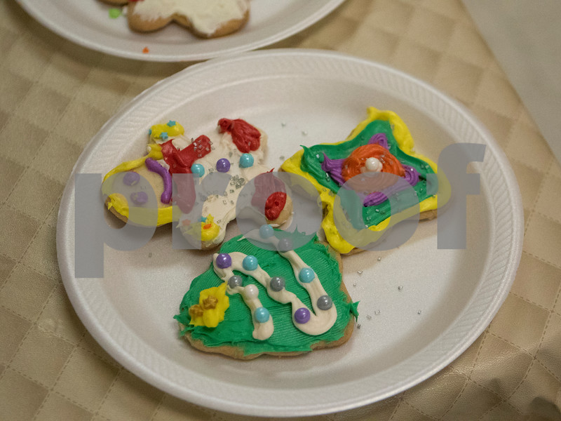 Sam Buckner for Shaw Media.<br /> Cookies that were decorated by Seniors at Club 55 on Friday December 1, 2017.