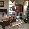 A bedroom in the Ellwood House Museum sits decorated for Saturday's Holiday Open House in the mansion in DeKalb.