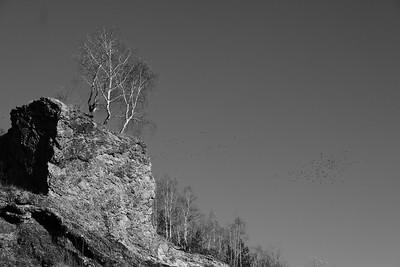 Post-industrial landscape, slag heap, Starachowice, Swietokrzyskie Region, Poland