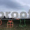 Aimee Barrows – news@daily-chronicle.com<br /> Decorations line the route of the Holiday Lights Train in Lions Park in Waterman.