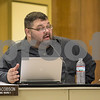 Sam Buckner for Shaw Media.<br /> David Jacobson, 1st ward Alderman, expresses his concerns on passing a deficet budget at the council meeting on Monday December 11, 2017.