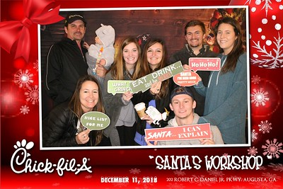 "2018.12.11 Chick-fil-A ""Santa's Workshop"" @202 Robert C. Daniel Parkway"