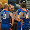 Sam Buckner for Shaw Media.<br /> Head Coach Corey Jenkins talks to his team during a time out on Tuesday December 12, 2017 at Sycamore High School.