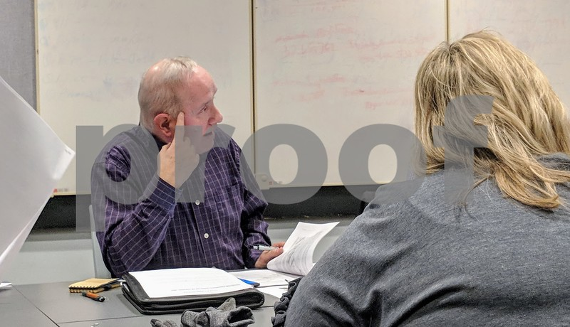 DeKalb County Board Executive Committee Committee member Tim Bagby, R-Sycamore, speaks during a meeting Wednesday's to discuss the county's new policy on sexual harassment.