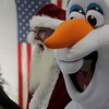 Kristi Garabrandt — The News-Herald <br> Santa Claus and Olaf were two of the surprise characters to pay a visit to Broadmoor's Chriistmas party.