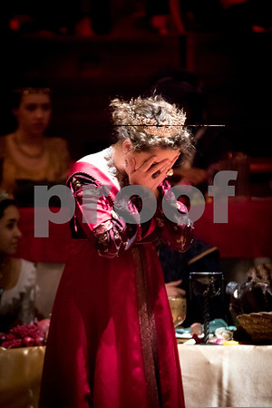 Sam Buckner for Shaw Media.<br /> Queen Grace Klonoski cries in regret after she thought she had killed the king on Friday December 16, 2016.