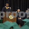 Sam Buckner for Shaw Media.<br /> Pernevlon Ellis, Assistant Professor of Sociology, gives a speech at the commencement ceramony on Saturday December 16, 2017.