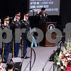 Sam Buckner for Shaw Media.<br /> Graduates who have been appointed as a reserve officer in the military  give an oath at graduation on Sunday December 17, 2017.