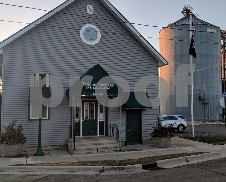 Cortland Town Hall is shown on Monday. The city is looking into rezoning a property on Somonauk Road as part of a plan to create a traditional downtown corridor.