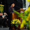 President Richard Lapidus speaks during the 121st Annual Graduate Commencement at Fitchburg State University on Thursday, May 18, 2017. SENTINEL & ENTERPRISE / Ashley Green
