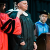 Shawn McGuirk, of Fitchburg, receives his graduate hood during the 121st Annual Graduate Commencement at Fitchburg State University on Thursday, May 18, 2017. SENTINEL & ENTERPRISE / Ashley Green