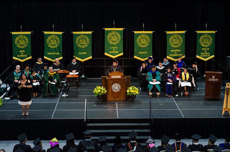 Scenes from the 121st Annual Graduate Commencement at Fitchburg State University on Thursday, May 18, 2017. SENTINEL & ENTERPRISE / Ashley Green