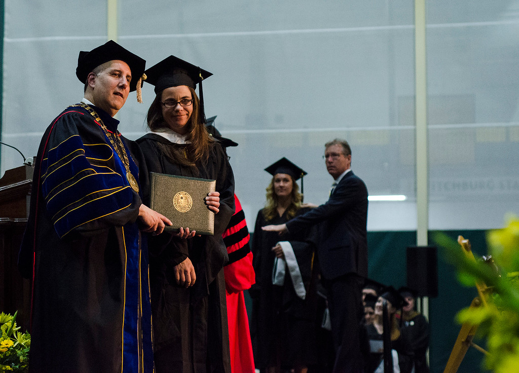 . Scenes from the 121st Annual Graduate Commencement at Fitchburg State University on Thursday, May 18, 2017. SENTINEL & ENTERPRISE / Ashley Green