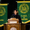 State Rep. Natalie Higgins speaks during the 121st Annual Graduate Commencement at Fitchburg State University on Thursday, May 18, 2017. SENTINEL & ENTERPRISE / Ashley Green