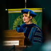 Dr. Jennifer Berg speaks during the 121st Annual Graduate Commencement at Fitchburg State University on Thursday, May 18, 2017. SENTINEL & ENTERPRISE / Ashley Green