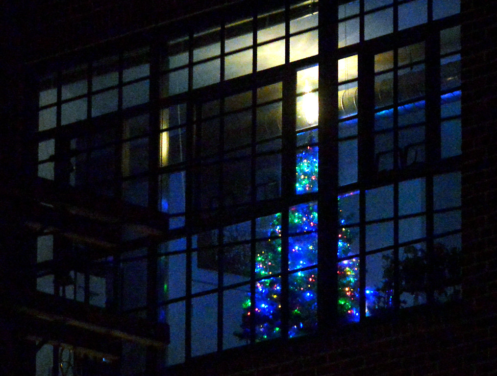 . (Bob Raines-/Digital First Media)  A Christmas tree in the apartment building at Penn St. and S. Line St., Lansdale Dec. 21, 2017.