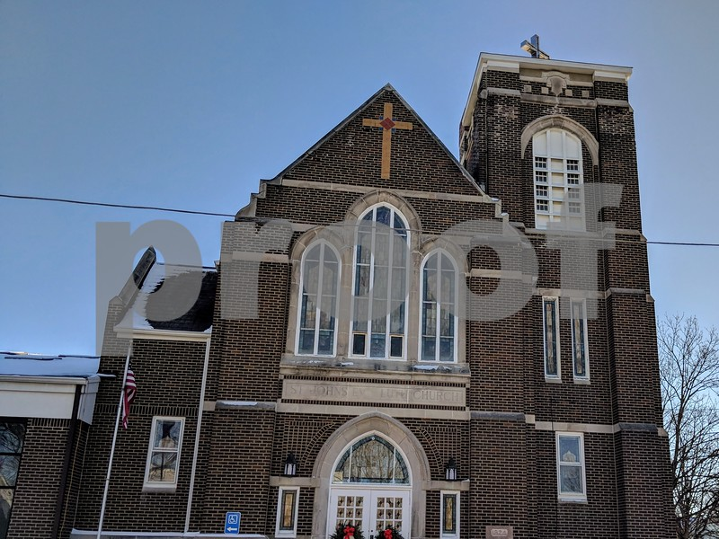 St. John's Lutheran Church opened in Feb. 1925, and members of the congregation believe the window behind the altar dates to that time.