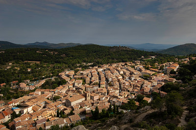 Europe, France, Provence, La Garde Freinet, general view of town from fort