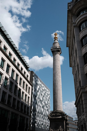 The Monument To The Great Fire of London,  by London Bridge, London, United Kingdom