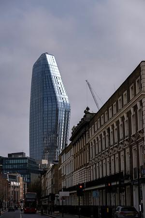 Blackfriers One towering above Stamford Street, London, United Kingdom
