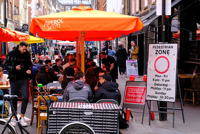 West End bars and restaurants opening up to customers, and diners, post pandemic, restrictions are slowly lifted, London, United Kingdom