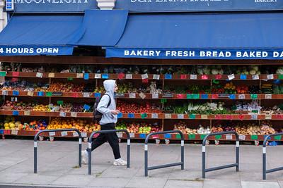 Shops on Holloway Road, London, United Kingdom