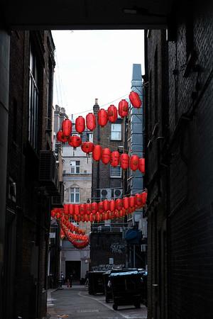 Back street, Chinatown, London, United Kingdom