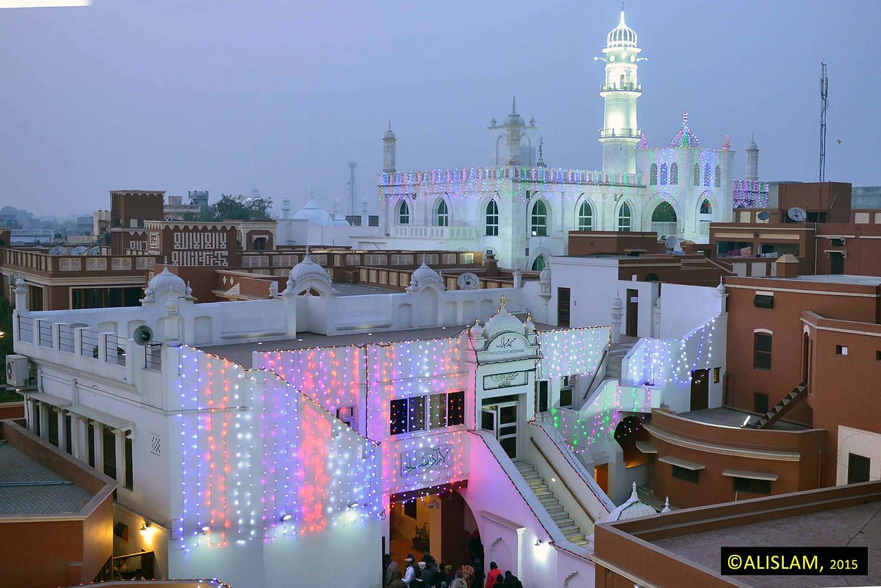 """There was a time when no one knew of the Promised Messiah (peace be upon him) nor of Qadian, but today, People from dozens of countries have come to attend the Jalsa in Qadian.  Photo above is a view of Darul Masih in Qadian."