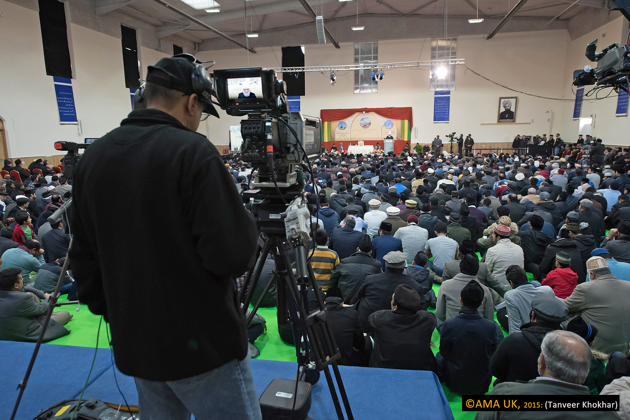 "Hazrat Mirza Masroor Ahmad said: ""Where there is goodness, there is also evil and immorality and cruelties of the highest order are being perpetrated in today's world. Modern technology is being abused by many in order to spread satanic influences and injustice and as a result mankind is moving away from God and true faith. Today, it is only the satellite channel of the Ahmadiyya Muslim Community, MTA International that is broadcasting peace, righteousness and virtue 24 hours a day in accordance with the true teachings of God Almighty and the Holy Prophet Muhammad (peace be upon him)."""
