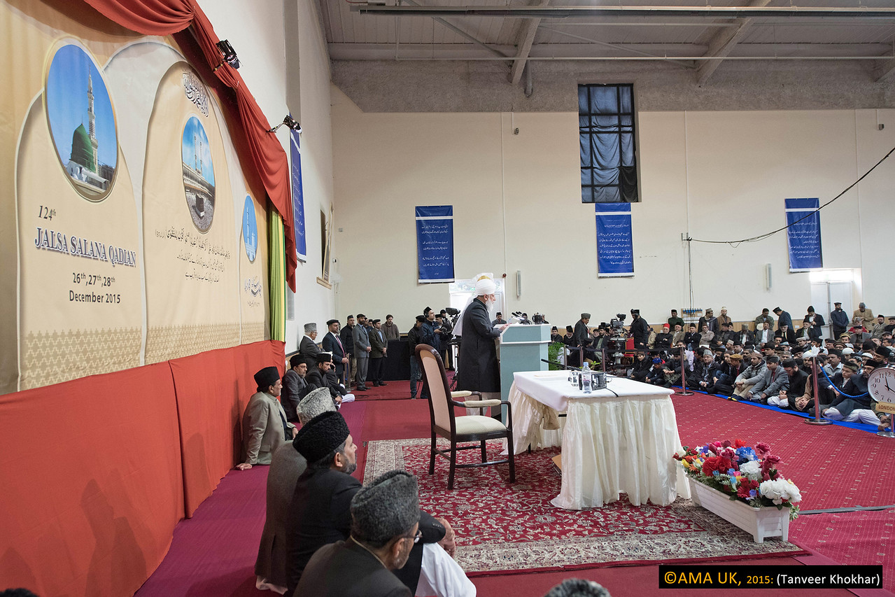 Whilst the Ahmadiyya Muslim Community was utilising modern technology to spread Islamic values of peace, tolerance and respect, His Holiness said there were others who were using modern technology to spread evil and disorder.