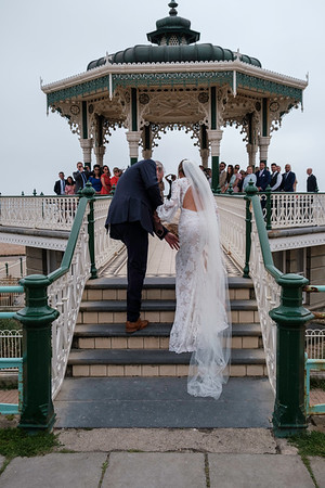 Wedding of Florance and Henry, The Bandstand, Brighton, Sussex, United Kingdom