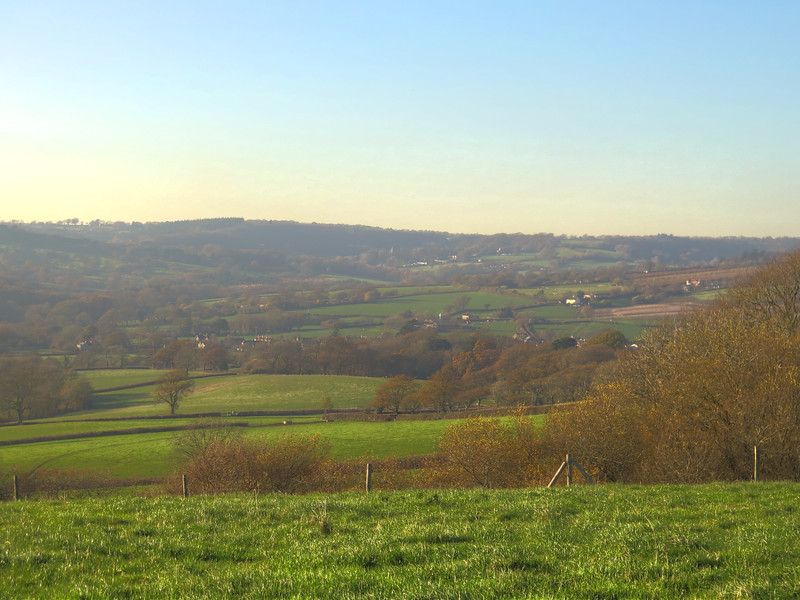 Lovely views across the Char valley