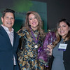 Antonio Tijerino, Crittenton Board Member and President and CEO of the Hispanic Heritage Foundation with honoree Maria Cardona, Principal of the Dewey Square Group, and alumna Melissa Flores.