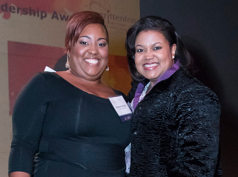 Crittenton alumna and presenter Diamond Bonner with honoree and Commissioner for the Federal Energy Regulatory Commission, Colette Honorable.