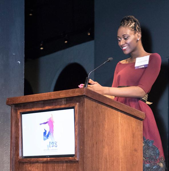 Alumna and presenter Gabrielle Hawkins.