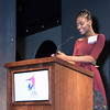 Alumna and presenter Gabrielle Hawkins.