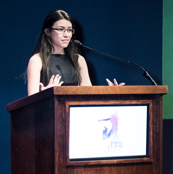 Crittenton alumna and presenter, Josselin Panameno.