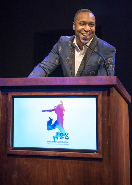 Emcee, Crittenton Board Secretary and  Musical Director, Aaron Myers.