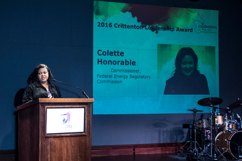 Honoree and Commissioner for the Federal Energy Regulatory Commission, Colette Honorable.