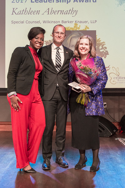 Kimmie Wilson, Crittentin alumna, Brendan Carr, Commissioner, Federal Communications Commission, and Kathleen Abernathy, Crittenton Leadership Award Honoree, Special Counsel, Wilkinson Barker Knauer LLP.
