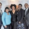 Justin Mirabal, Associate, Reed Smith, Colette Honorable, Crittenton Sponsor, Partner, Reed Smith, Charlesa Scott, Crittenton Youth Development Program Coordinator, Paula Glover, President & CEO, American Association of Blacks in Energy (AABE), and Tyree Jones, Partner, Reed Smith.